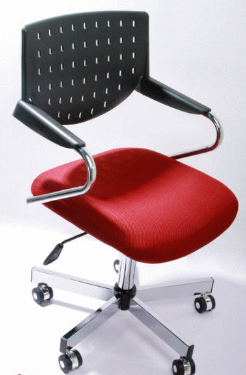 BLACK & RED OFFICE CHAIR BSC-108101