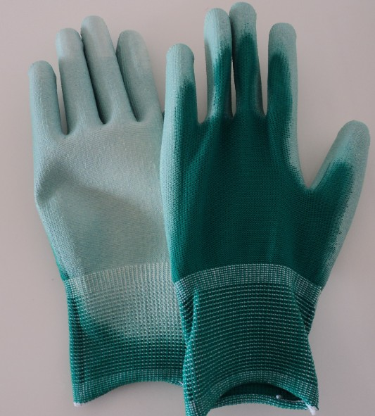 ESD GREEN PALM FIT POLYESTER GLOVES