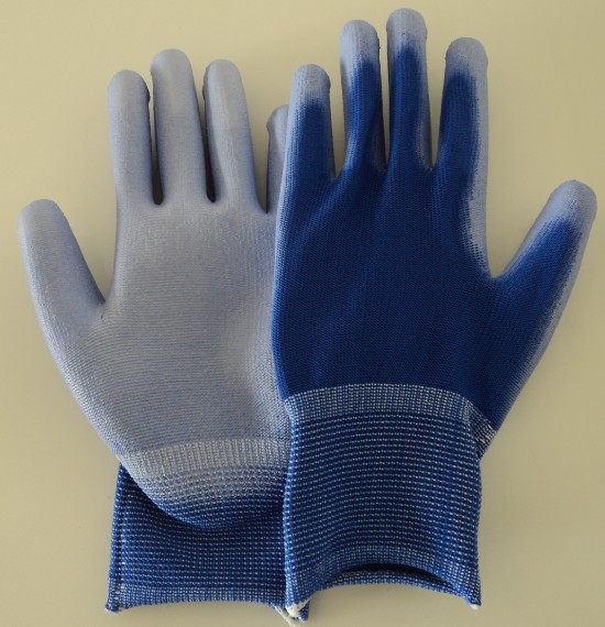 ESD BLUE PALM FIT POLYESTER GLOVES