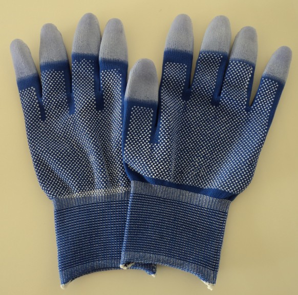 ESD BLUE DOTTED TOP FIT GLOVES